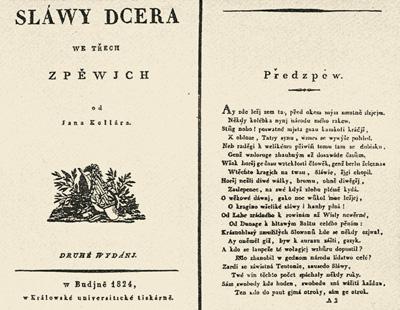 словацкая поэзия, Ян Коллар, «Дочь славы»