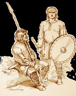 общественный строй славян в VI-VIII веках, славянские воины