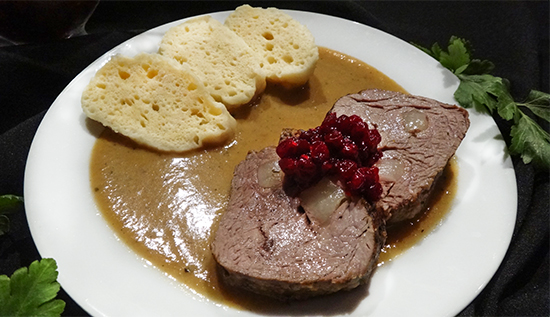 чешская кухня, свичкова на сметане