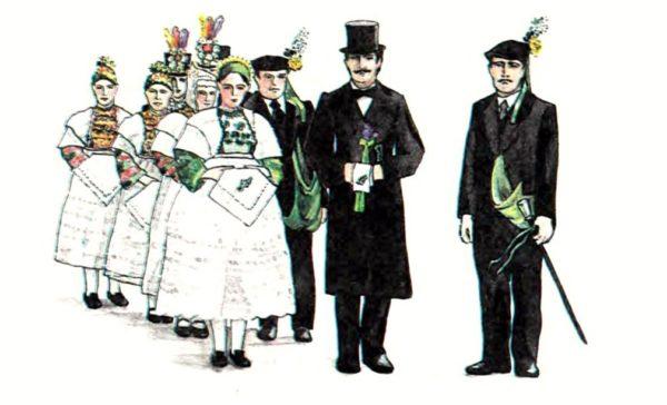 Свадебный наряд у лужичан в XIX-XX веках
