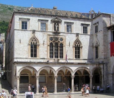 хорватская архитектура, готика, палаццо Спонза