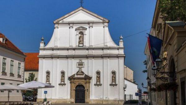 хорватская архитектура, барокко, иезуитская церковь Св. Екатерины в Загребе