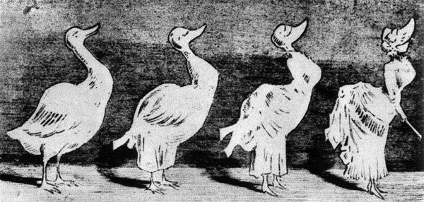 Мода русских дворянок XIX-XX веков, карикатура