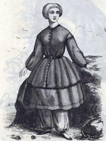 Мода русских дворянок XIX-XX веков, купальный костюм