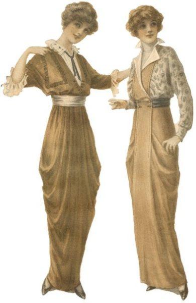 Мода русских дворянок XIX-XX веков, «хромающая» юбка